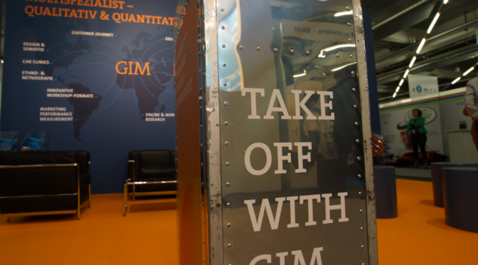 Take Off with GIM: Abheben zur Marktforschungs-Messe