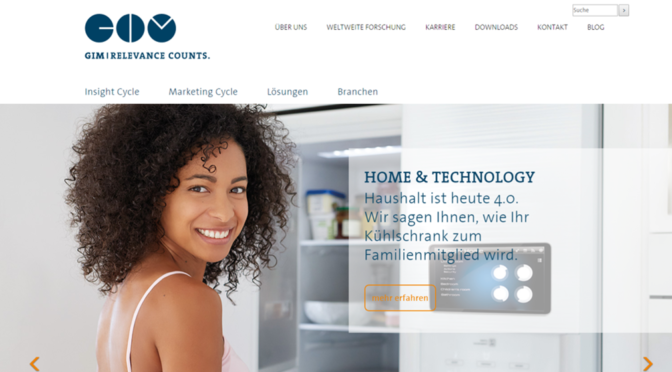 Neu in Look und Technik: GIM Homepage
