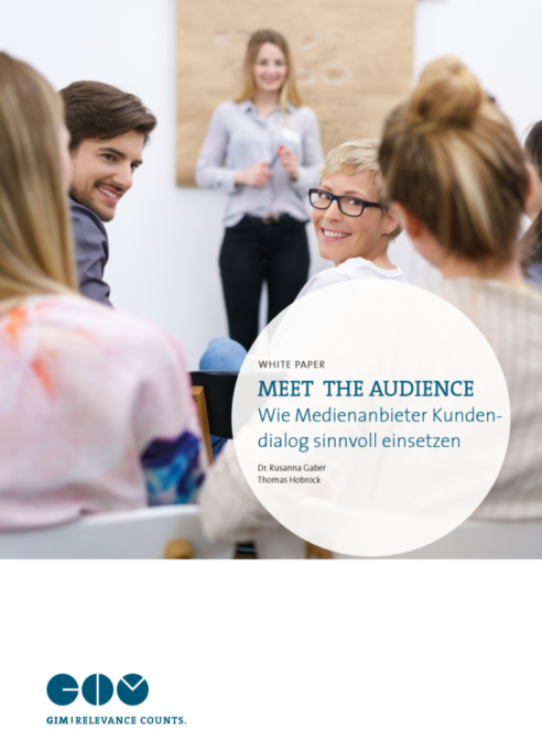 "Titelblatt des GIM White Paper ""Meet the Audience"""